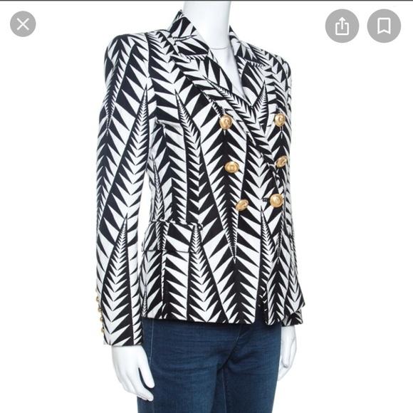 Balmain Pattern Double Breasted Jacket